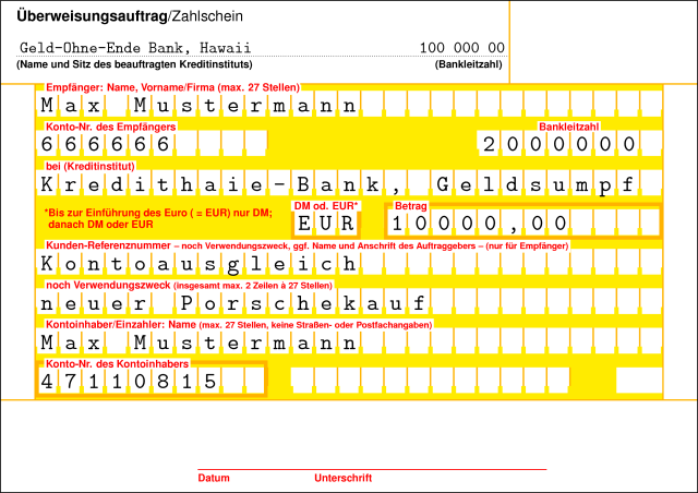 Andreas Steinel : Tag ueberweisung, everything about ueberweisung